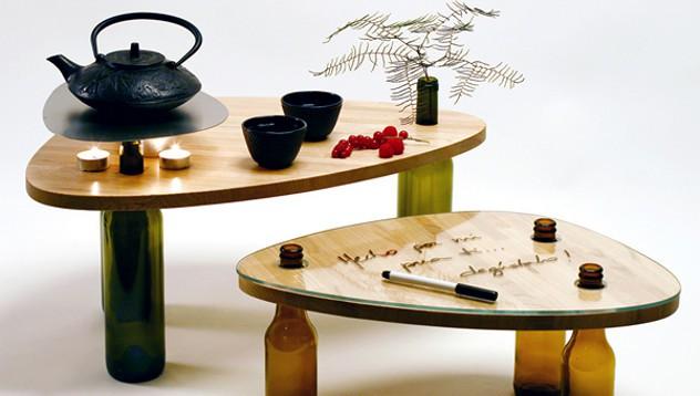 Оригинални мебели от винени бутилки