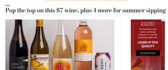 Washington Post включи българско вино в селекция с разхлаждащите напитки на лятото