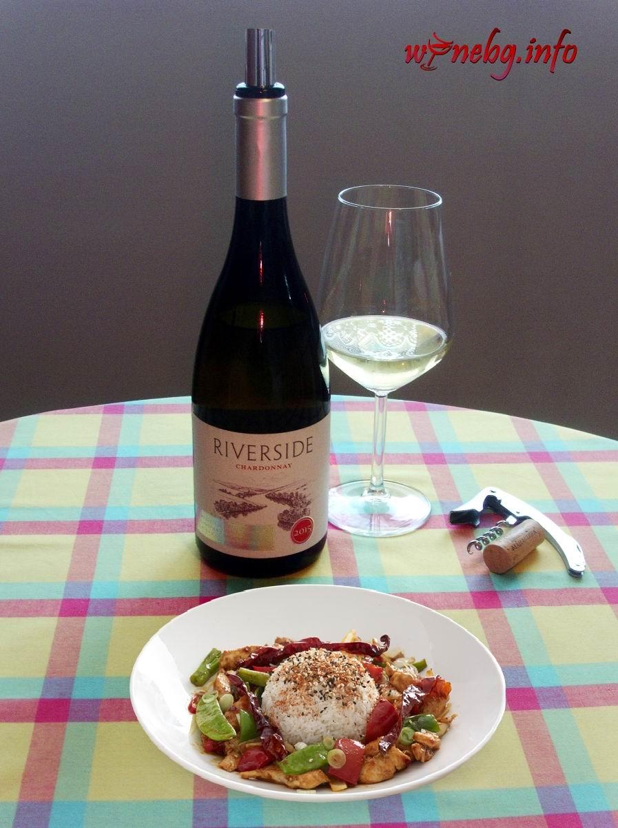 Riverside Chardonnay 2015 -Manastira Winery
