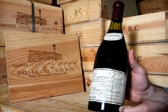 Предлагат на търг уникална колекция с вина на Domaine de la Romanee-Conti