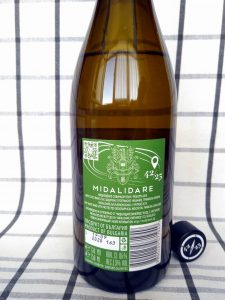 42-25 Sauvignon Blanc 2019 - Midalidare Estate label back