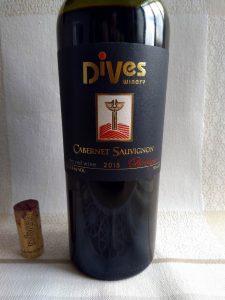 Cabernet Sauvignon Barrique 2015 - Dives Estate label